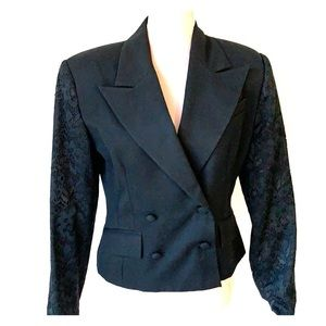 Vintage 80s double breasted suit jacket